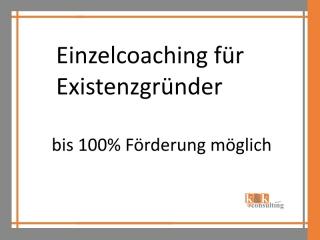 Einzelcoaching für Existenzgründer