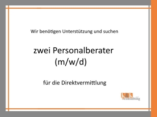 Personalberater (m/w/d) gesucht