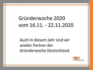 Gründerwoche 2020